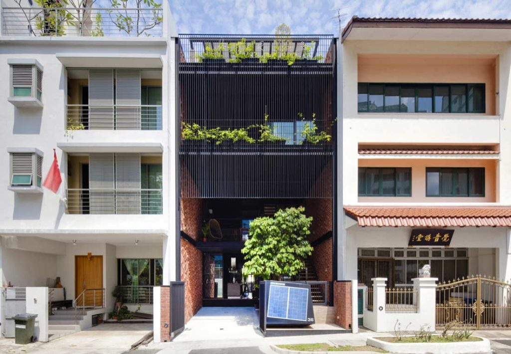 Terrace house residential fengshui an